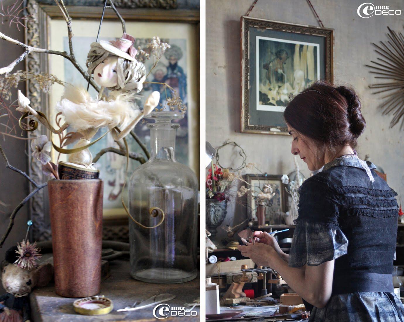 Miss Clara, créatrice, illustratrice à Bordeaux, dans son atelier