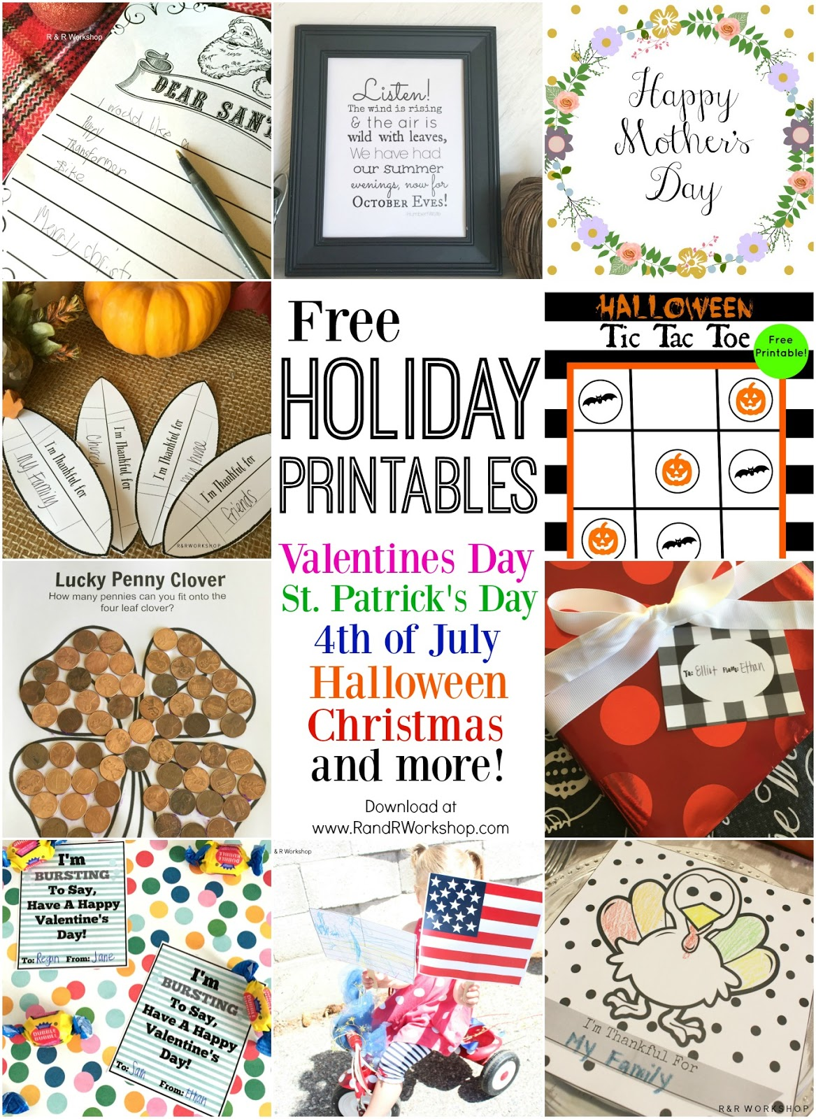 each year i post the top posts from the past year but since i had a lot more printables for this year i decided to do a top 20 holiday printables - Free Holiday Printables