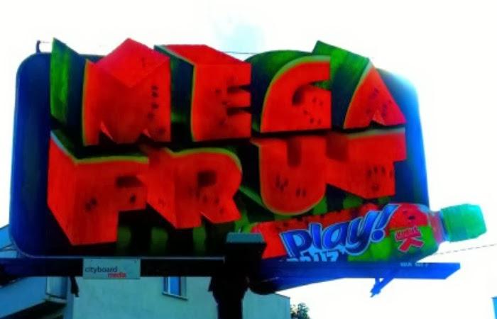 Obraz: billboard reklamowy Mega Frut Kubuś Play
