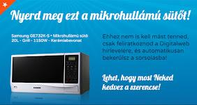 Iratkozz fel a hírlevélre és Nyerj Samsung GE732K-S típusú mikrohullámú sütőt!