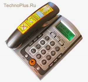 Телефон Matrix M-300 2616 с автоматическим определителем номера АОН с питанием от телефонной линии для современных АТС