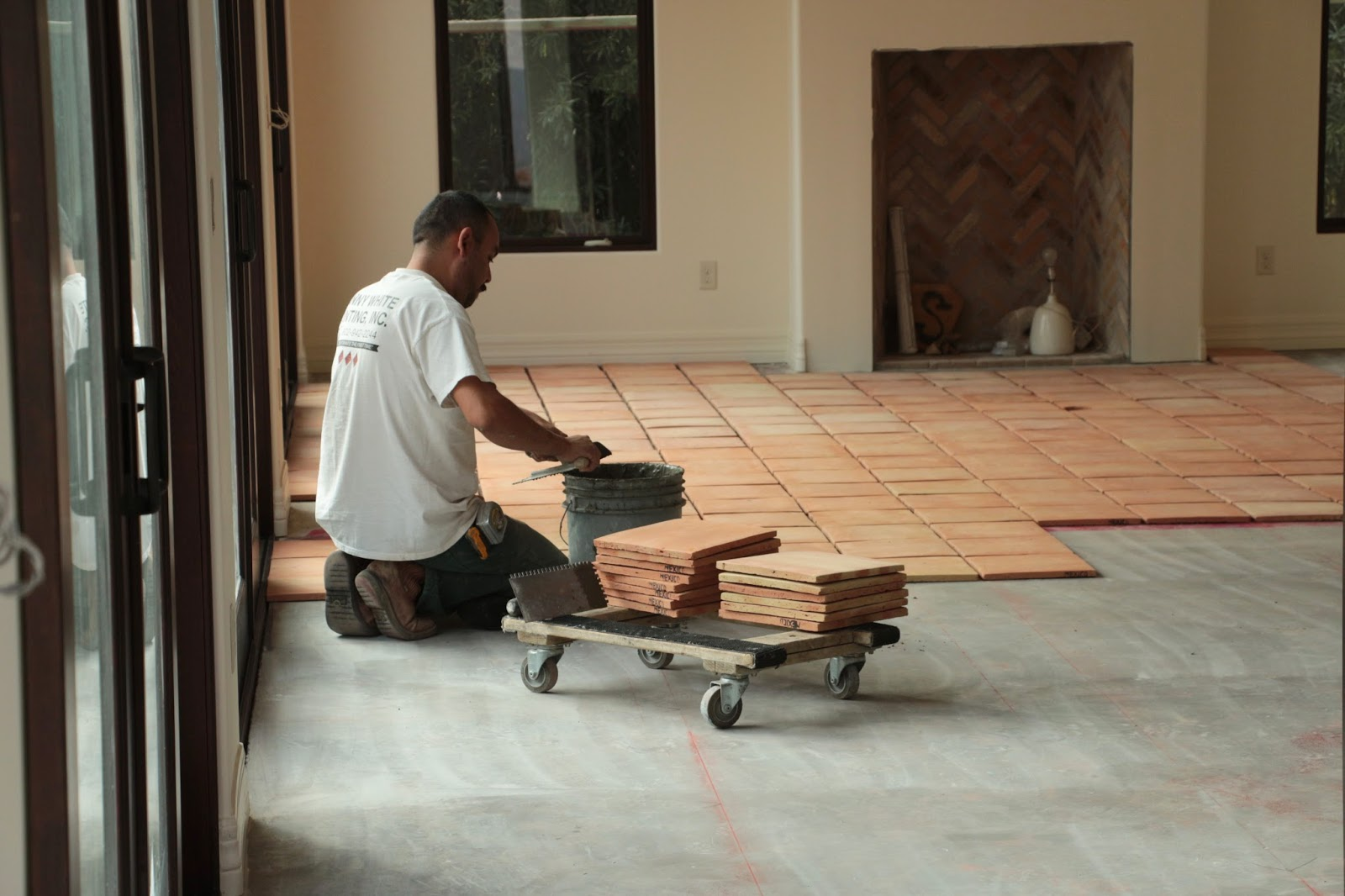 installing saltillo tile floors