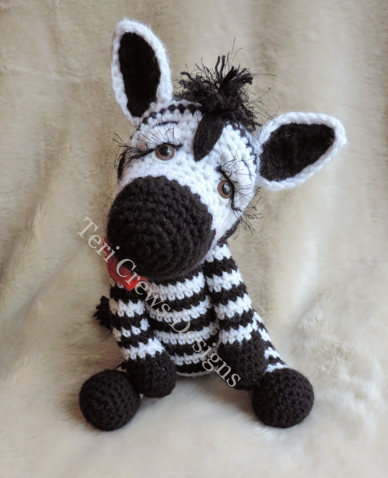 Simply Cute Zebra and Zebra Huggy Blanket Crochet Patterns are