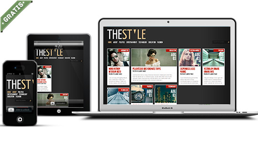 the style responsive blogger template