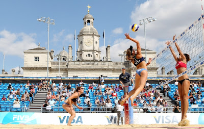 Horse Guards Parade voleibol playa beach volleyball Londres London 2012 Olimpiadas Olympic