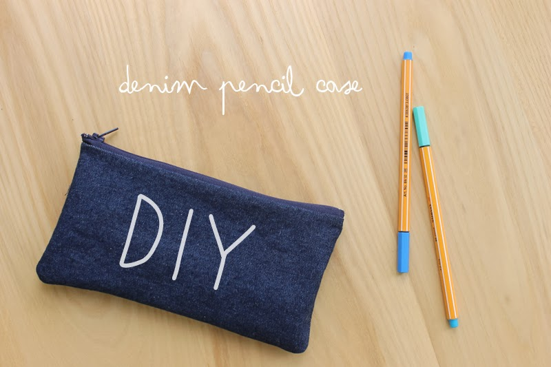 Harri Wren: DIY Denim Pencil Case