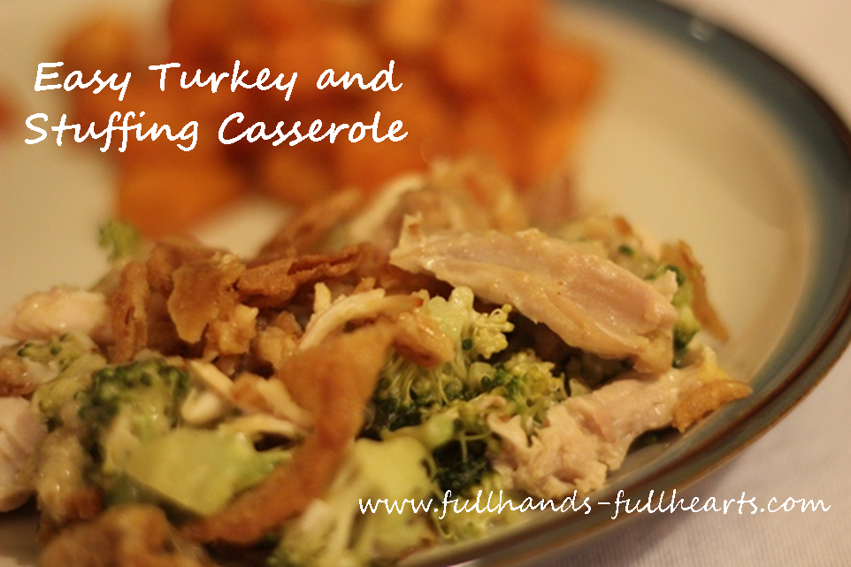 Easy Turkey and Stuffing Casserole