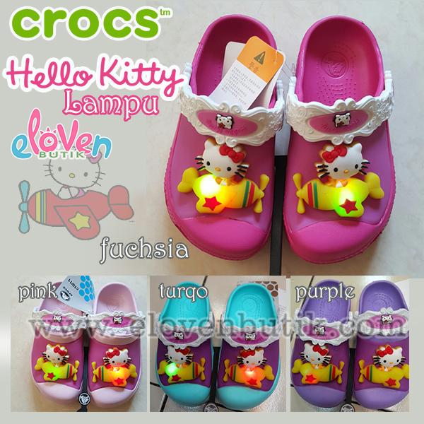 Crocs Hello Kitty lampu