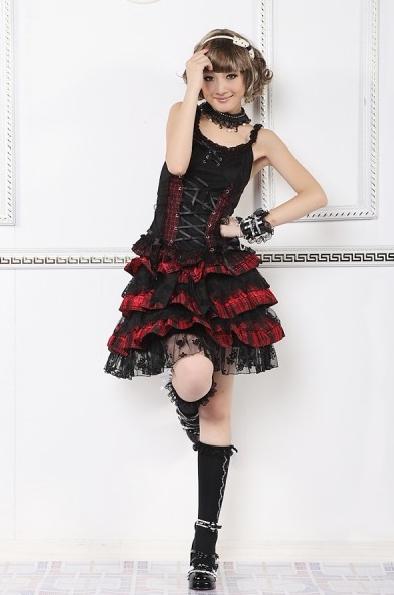 Sweet Bow Plaided Lolita Skirt for Women