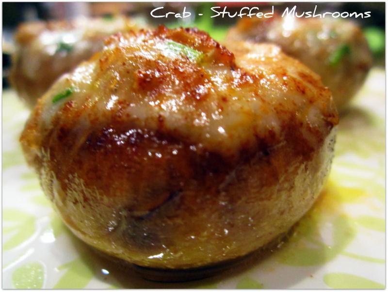 Red Kitchen Recipes: Crab Stuffed Mushrooms