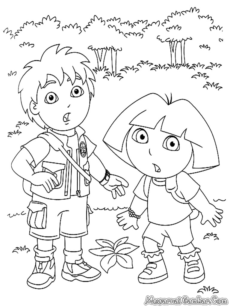 Dora & Diego Coloring Pages