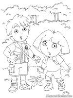 Gambar Dora Dan Diego Untuk Diwarnai-Anak-Anak