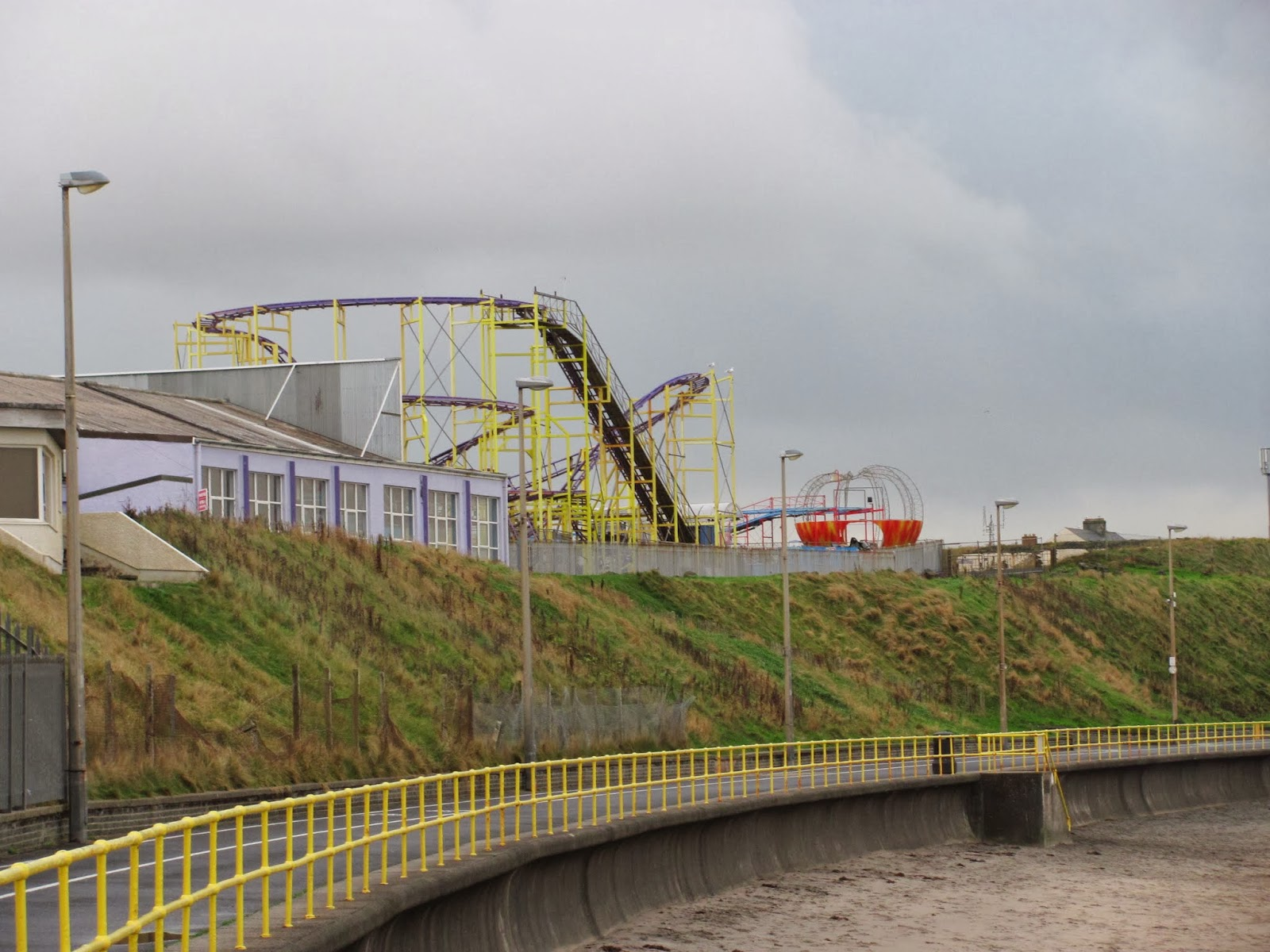 Thrill rides are closed for the season in Portrush, Northern Ireland