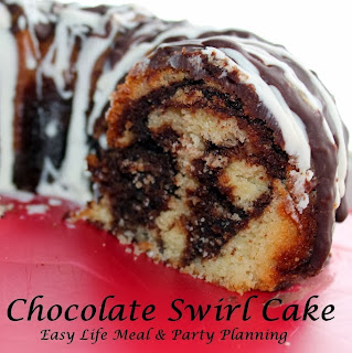 Chocolate Swirl Bunddt Cake - Easy Life Meal & Party Planning