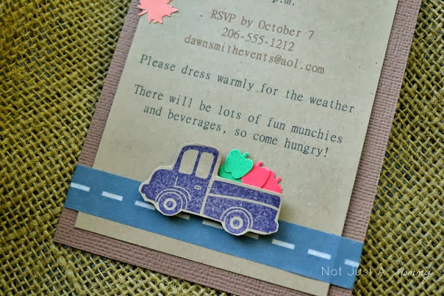 pumpkin patch tailgating party invite closeup