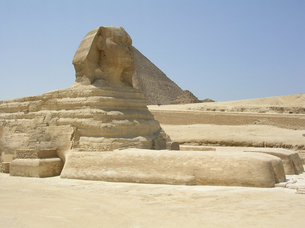 """the great sphinx The mystery of the great sphinx facing the rising sun, the great sphinx is located on the giza plateau, about 10 km west of cairo, on the west bank of the nile river later egyptian rulers worshipped it as an aspect of the sun god, calling it hor-em-akhet ("""" horus of the horizon""""."""