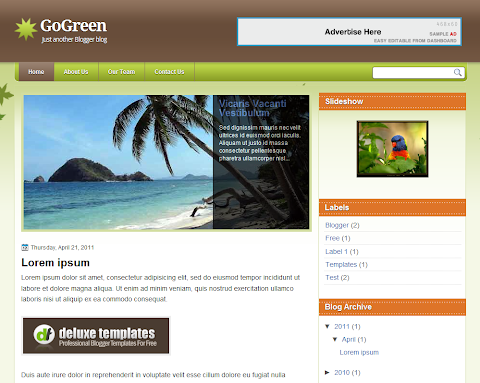 GoGreen Blogger Theme