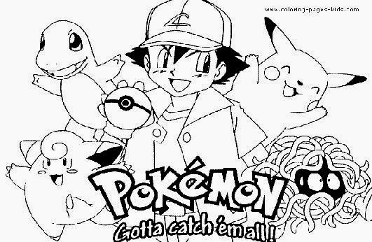 Pokemon Coloring Pages : Free Coloring Sheet