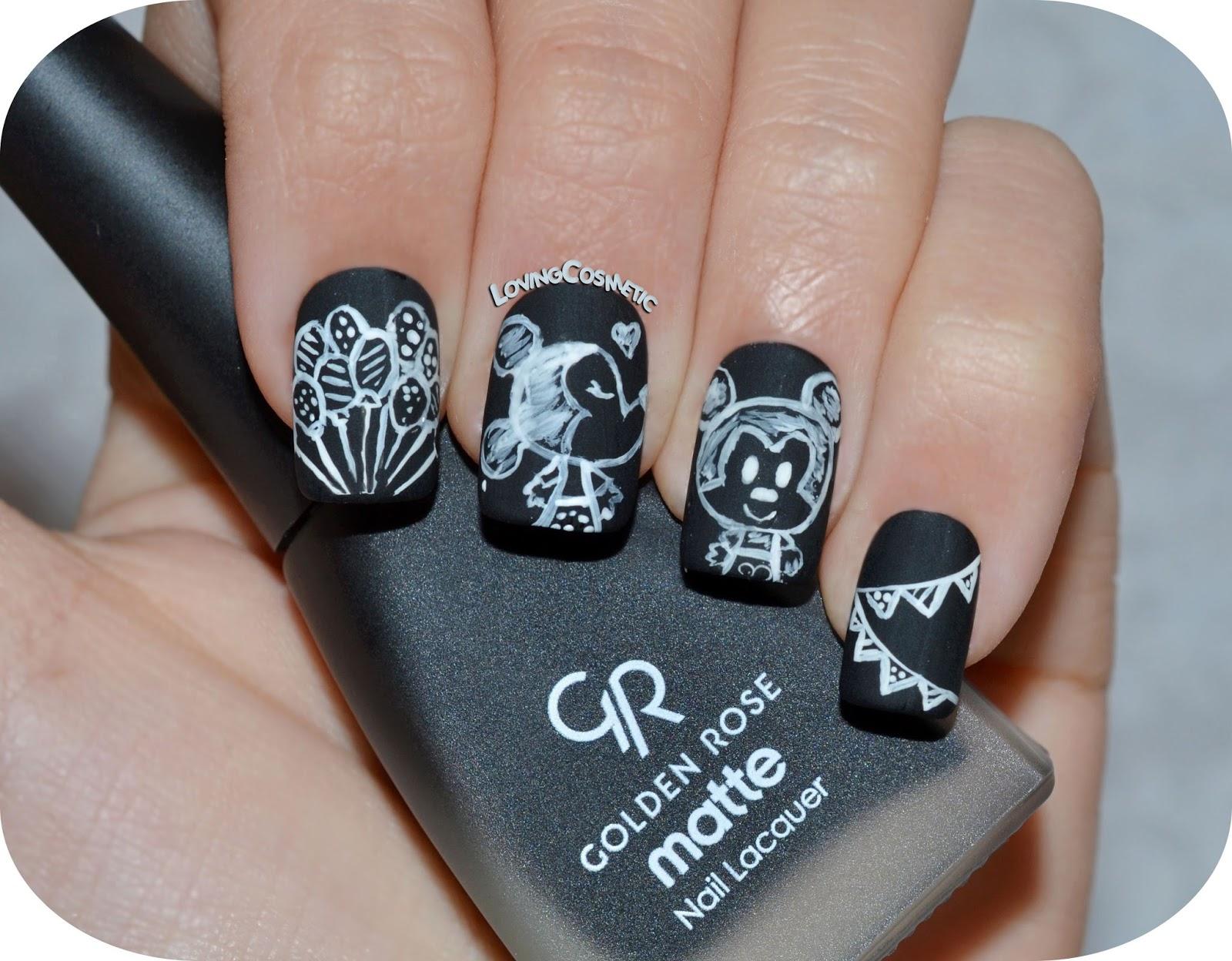 Nail Art - Mickey & Minnie - Pizarra ~ LovingCosmetic