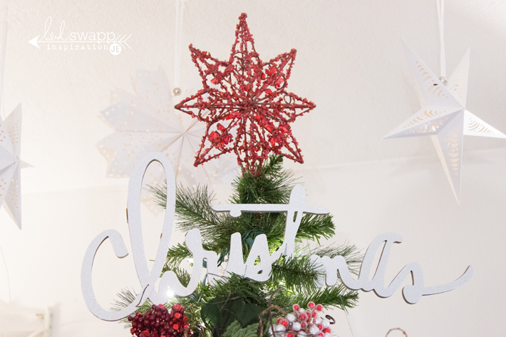 Christmas Tree with @heidiswapp's wall words by @createoften