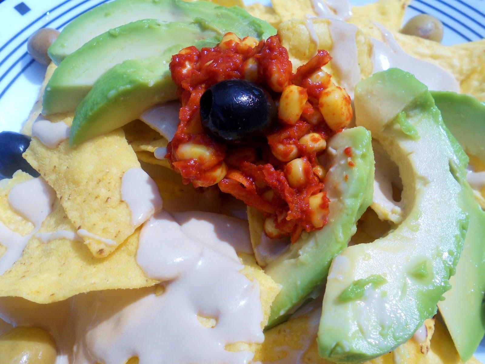 how to make vegetarian nachos
