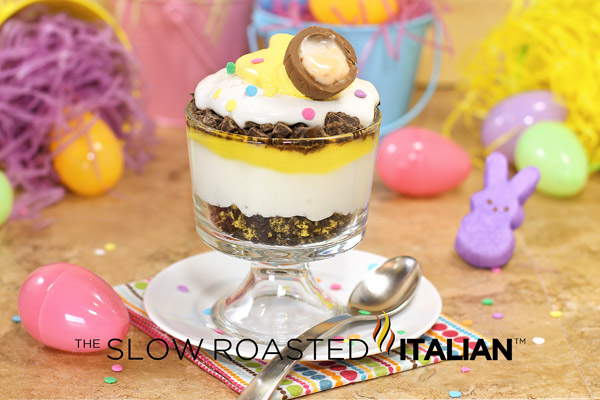 Cadbury egg inspired easter trifle for Quick and easy easter treats recipes