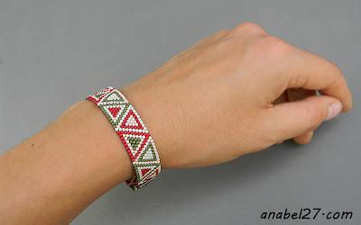 купиь браслет из бисера с орнаментом украина