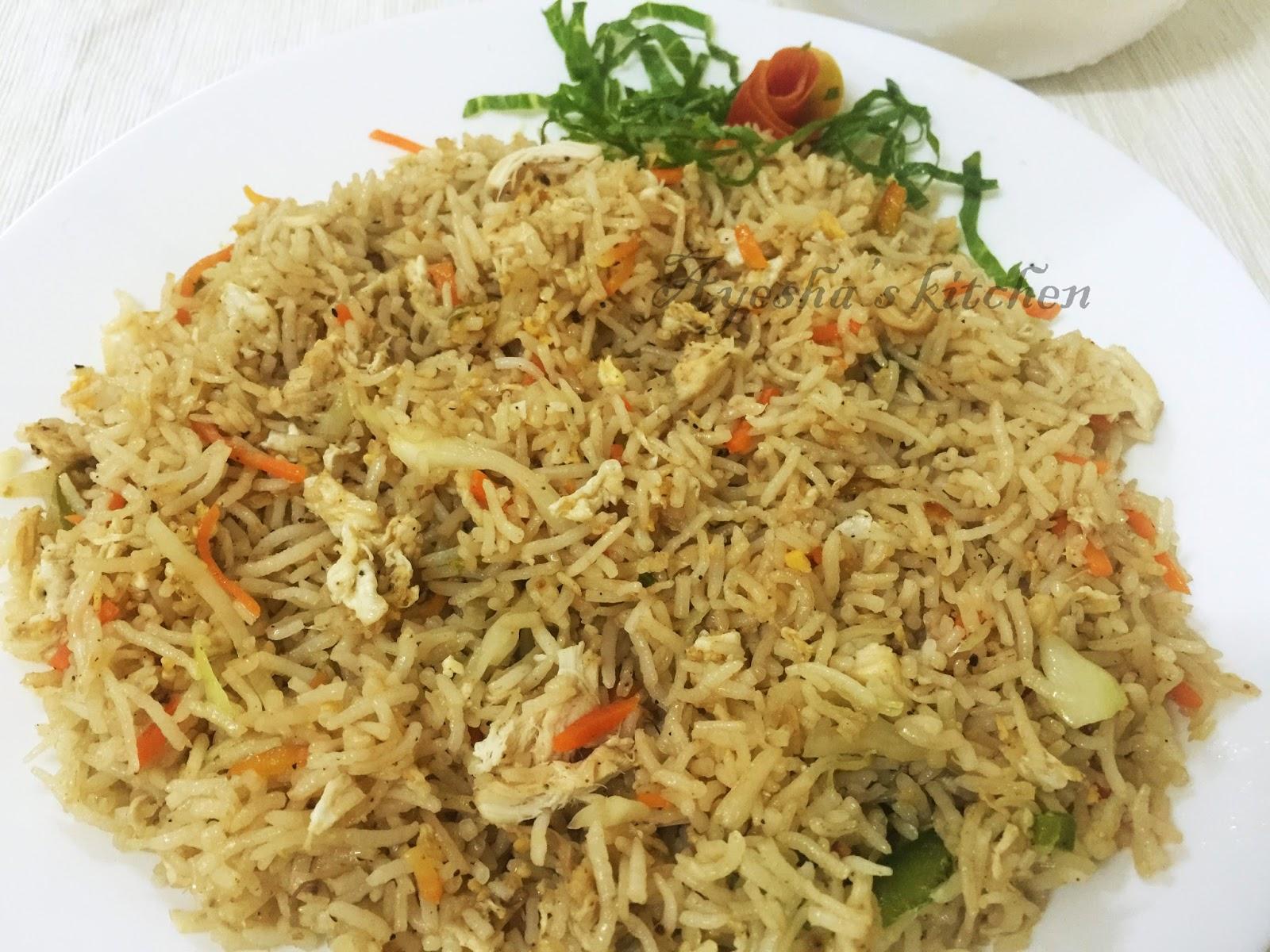 Pepper chicken fried rice recipe
