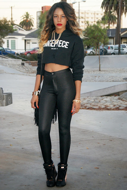 wedge sneakers, puma, dime piece sweater, all black outfits,