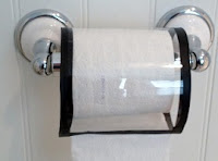 Remove your toilet roll and spindle from the wall mount, slide both inside your new toilet roll protector, and reattach the roll to the wall mount