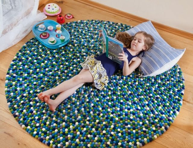 Girls Room Round Rug Carpet