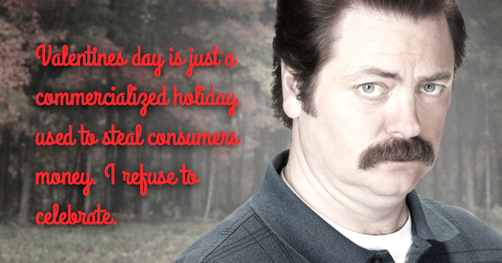 Parks and Rec, Parks and Recreations Valentines, Free Printables, Ron Swanson Valentines
