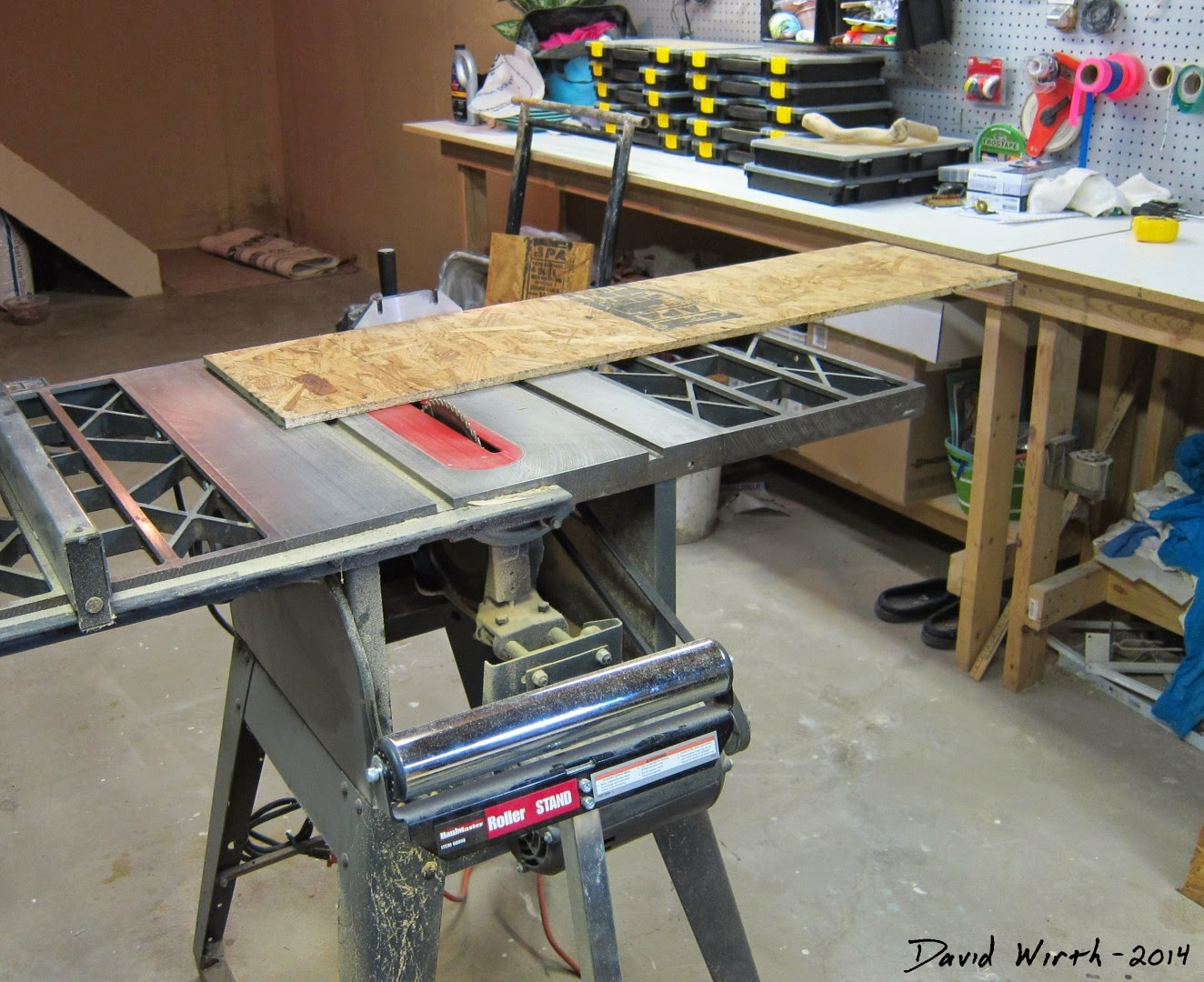 table saw, cross cut, osb, craftsman, guard