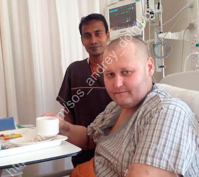Андрей Дольников в индийской клинике Фортис, сентябрь 2015.