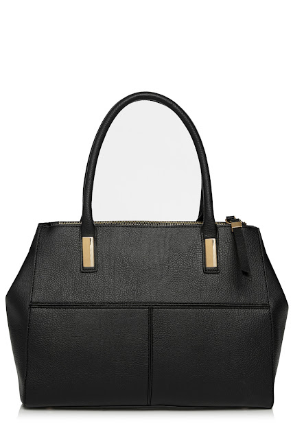 warehouse black tote, warehouse black handbag,