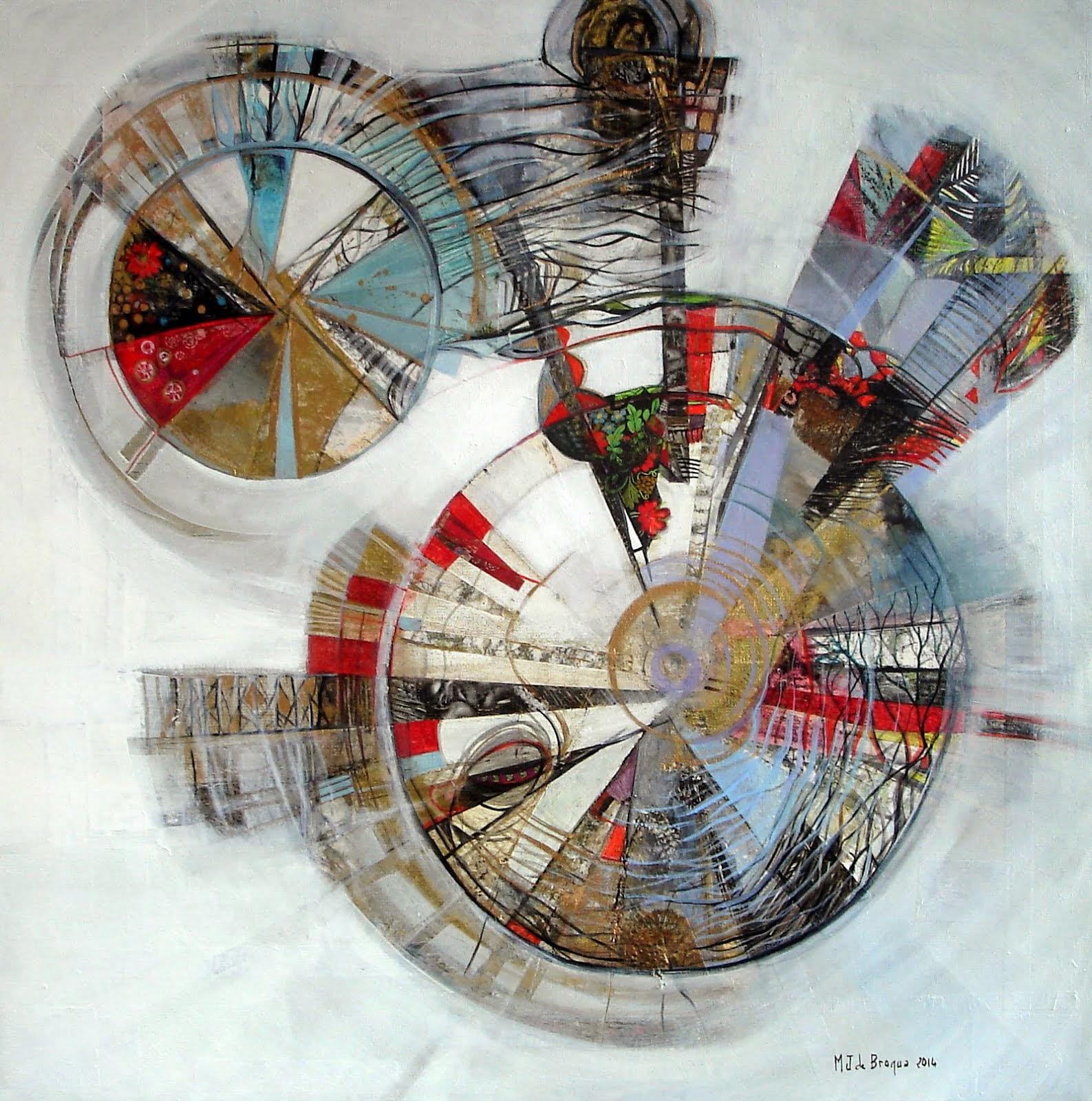 Le temps suspendu ou Mandala d'hiver - 60 x 60 cm - 2014