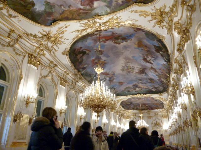 visita a schoenbrunn,grande galleria, vienna