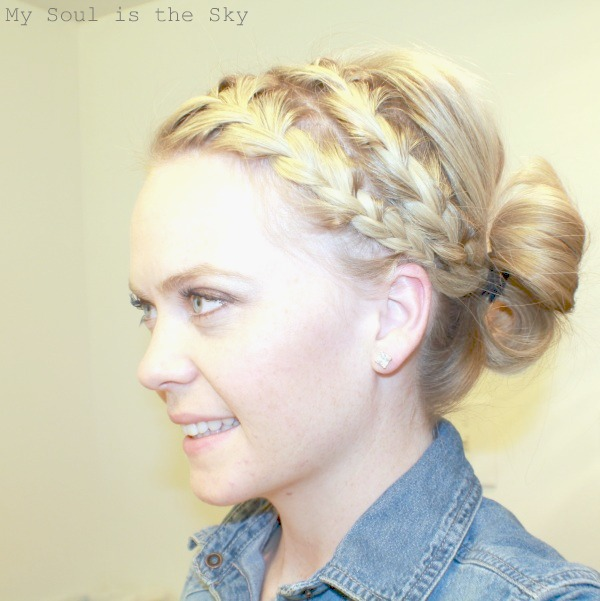 Double Braid into Bun Inspired by Rachel McAdams