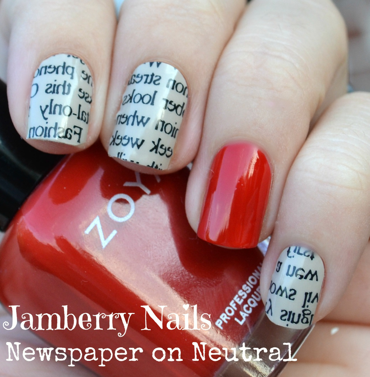 nails views: Jamberry Nails Newspaper on Neutral