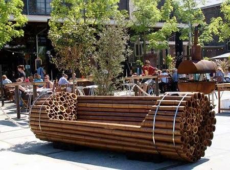 Banco de bamb muebles ecoresponsables for Muebles bambu