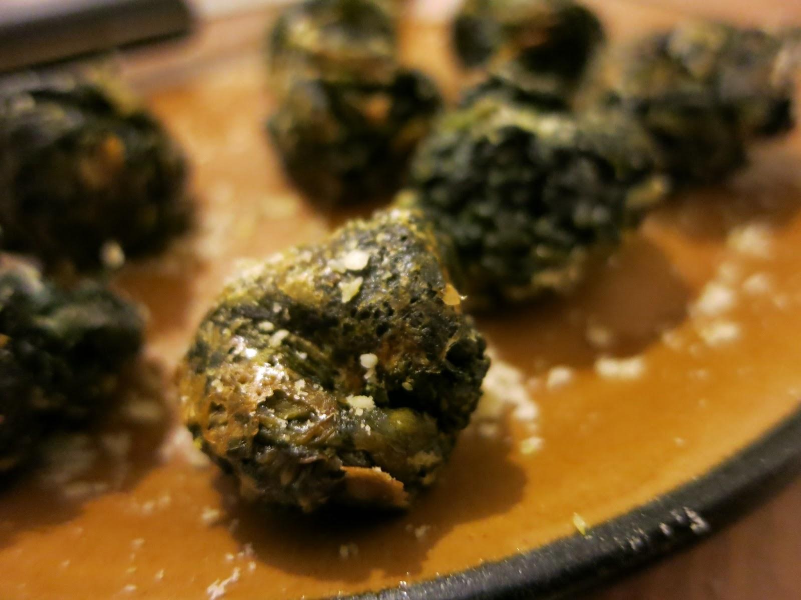 Baked Spinach Pamesan Balls