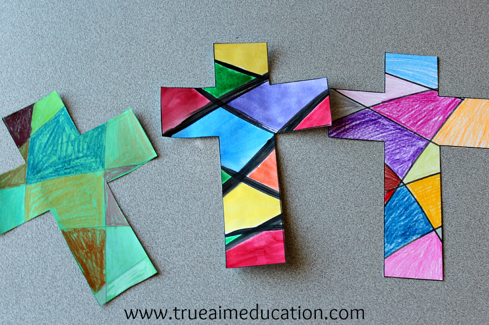 Easy cross craft true aim for Cardboard crosses for crafts