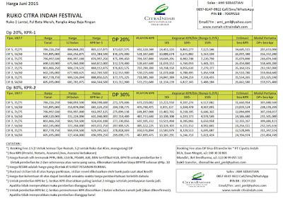 harga-ruko-citra-indah-festival-2015