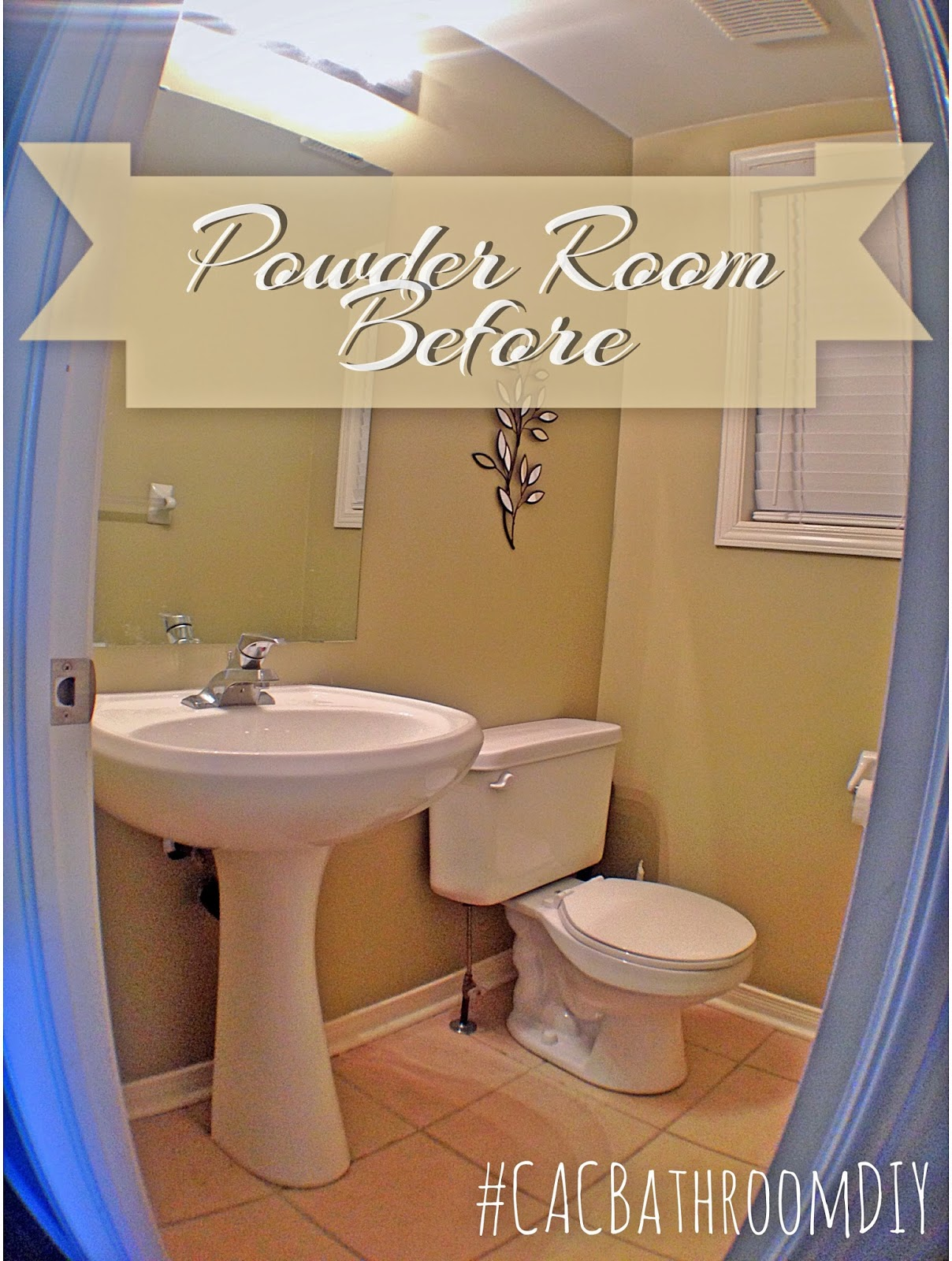 Powder Room Face lift with The Home Depot