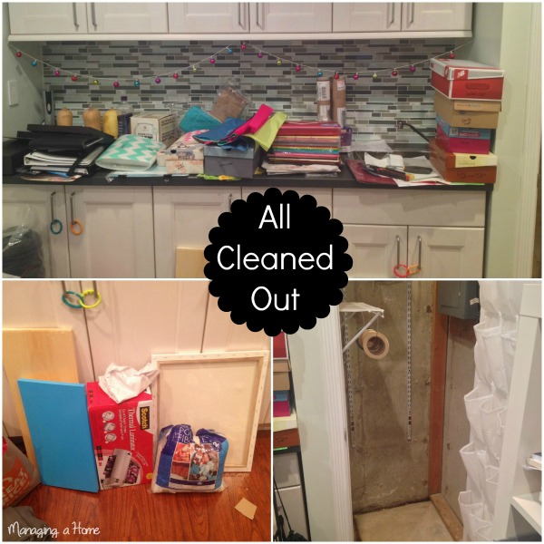 Progress picture of Craft Storage Organization - Operation: Project Organize Month 1 Craft Space | Managing a Home