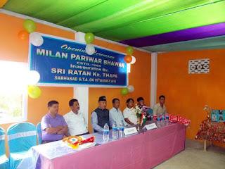 Milan Pariwar bhawan inauguration by Ratan Thapa