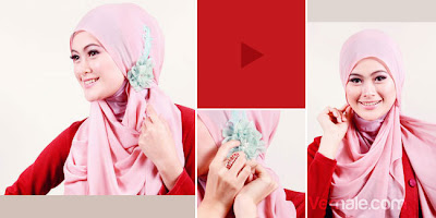 Cara+Memakai+Jilbab+Segi+Empat+Sederhana Tutorial Cara Memakai Jilbab Segi Empat