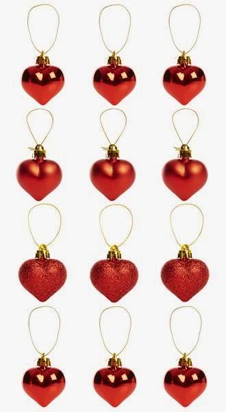 Primark online: corazones rojos para adornar