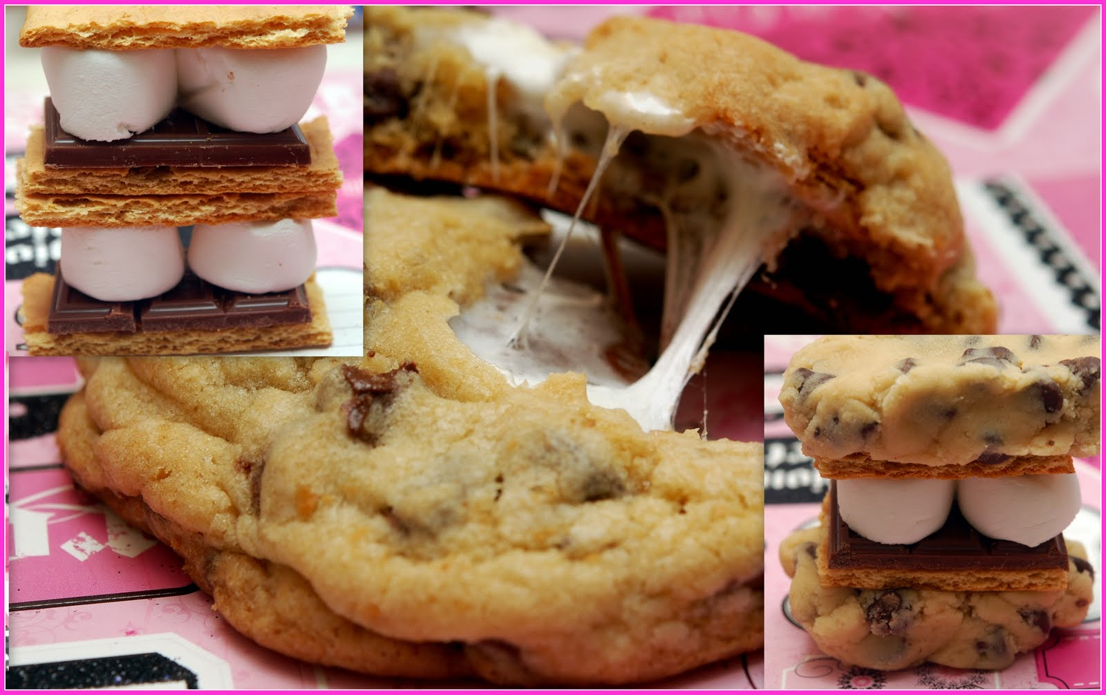 mores Stuffed Chocolate Chip Cookies