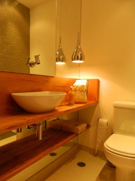 Decoração Inspiração rústica para banheiros e lavabos!!  Jeito de Casa  Bl -> Decoracao Banheiro Rustica